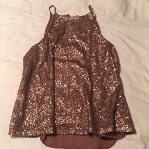 Party tank top gold/ rose gold